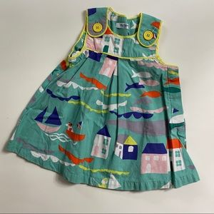Baby Boden Sea Village Pinafore Dress